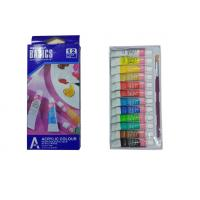 China Strong Adhesion Basics Colored Acrylic Paint Set‎ , Artists Paint Pigments 12 X 6ml Tubes wholesale