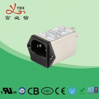 China 10A 120V 250VAC EMI Power Filter / Electrical Power Line Signal Filter wholesale