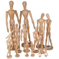 China Full Size Wooden Human Mannequin / Figure , Wooden Drawing Doll For School wholesale