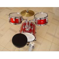 Quality Muse Basic Big Red 3 Piece Acoustic Drum Set For Kids / Children MU-3KL for sale