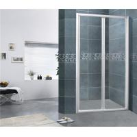 China Chromed Finished Folding Glass Shower Screen Aluminum Alloy Nano Tempered Glass For House on sale
