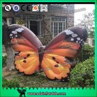 China Custom Orange  Inflatable Butterfly Model For Commerce Promotional wholesale