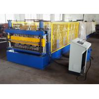 China 2 Layer Metal Roof Roll Forming Machine , Steel Trapezoidal Sheet Roll Forming Equipment wholesale