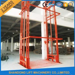 China Lead Rail Hydraulic Heavy Duty Elevator Lift Equipment Outdoor 200mm Pit Depth wholesale