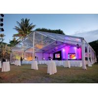 China Elegant Banquet Wedding Party Tent Clear Roof Top Hot Dip Galvanized Steel wholesale