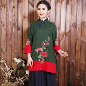 China Fashion Style Ethnic Cheongsam Blouse Clothing For Party Or Daily Life wholesale