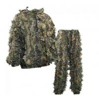 China OEM Sneaky 3D Leafy Hunting Suit 3D Leaf Camouflage Leafy Ghillie Suit wholesale