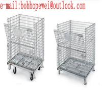 China galvanized steel wire metal factory folding storage cages competitive price/metal Folding Metal Storage Cage wholesale