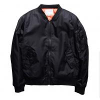 China Male Vintage Ma1 Bomber Jacket With Crew Neck Collar Single Breasted on sale