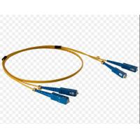 China E2000 FC To LC Fiber Patch Cord , Yellow Fiber Optic Cable Patch Cord Damp Proof wholesale