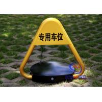 China CE Approved Remote Control Car Parking Locks Barrier Rise Height 460mm A3 Steel Triangle Car Blocker on sale