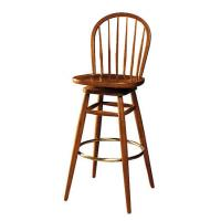 China Elegant French Style Wooden Bar Stools Chair With Round Back Upholstery Fabric wholesale