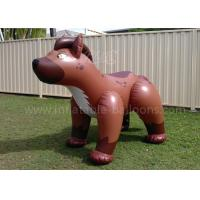 China Full Printing PVC Inflatable Products Brown 6ft Inflatable Dog For Kids wholesale