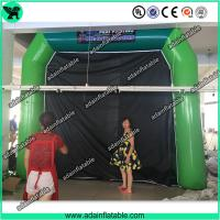 China High Quantity Green Inflatable Paint Booth, PVC tarpulin Inflatable Booth Tent wholesale