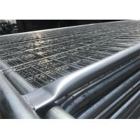Buy cheap 2.1m highx2.4m wide  second hand  steel temporary fencing panel from wholesalers