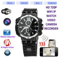 China Y33 8GB 720P WIFI IP Spy Watch Camera Home Security Smart  Remote CCTV Video Monitor IR Night Vision Nanny Baby Monitor wholesale