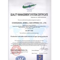 CHANGZHOU JEWELL GAS SPRING CO., LTD Certifications