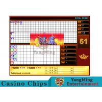 China Red Baccarat Gambling Systems Suitable For Standard Limit Sign Poker Games wholesale