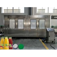 China CE ISO Glass Bottle Filling Machine , Automatic Industrial Juice Making Machine wholesale