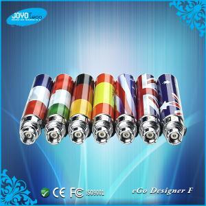 China JoyoTeco eGo Style national flag pattern Lithion-ion eGo F battery wholesale