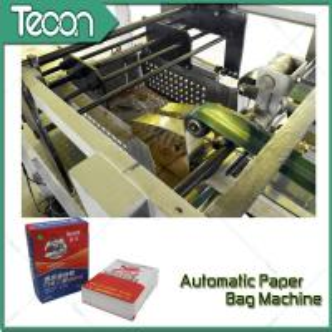 China 3 Layer Gypsum Powder Valve Paper Bag Making Machinery With Ladder Cutting wholesale