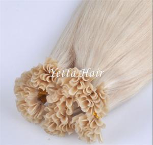 China Professional Full Cuticles Pre Bonded U Tip Hair Extensions Nail Hair wholesale