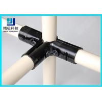 China 3 way Flexible Metal Pipe Joints Black Electrophoresis For Pipe Rack System wholesale