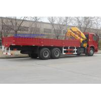 China Sinotruk 6x4 HOWO 16 Ton Truck Mounted Crane WD615.47 Euro 2 371 HP Red Color wholesale