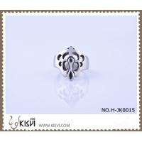 A unique design 9# / 2.22cm / 11.7g 316l stainless steel ring H-JK0015