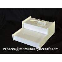 China Desktop White Perspex Tissue Box, Acrylic Hotel Supplies wholesale
