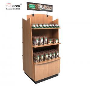 Buy cheap Wood Display Stand Double Way Wood Handmade Merchandising Chocolate Display Rack from wholesalers