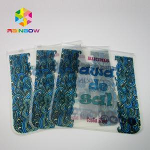 China Custom Swimwear Packing PVC Bikini Zipper Bags on sale