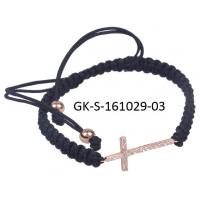 China 2012 hot selling handmade cross bracelet, small cross bracelet for engagement, gift, party, wedding wholesale