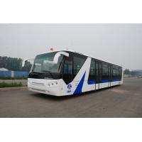 China White / Red / Yellow Airport Passenger Bus , 4 Stroke Diesel Engine Bus wholesale
