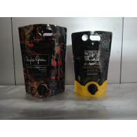 China Laminated Material Printed Stand Up Pouch With Spout / Juice Or Wine Bag In Box wholesale