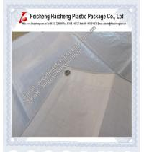 China white color plastic high tear pe woven fabric tarpaulin sheet wholesale