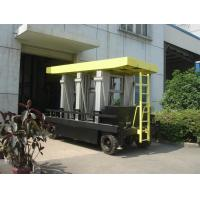 China Six Mast Self Propelled Aerial Scissor Lift Big Platform For Steel Construction wholesale