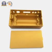 Quality Yellow Coated Cnc Mechanical Parts Electronic Cigarette Aluminum Case for sale