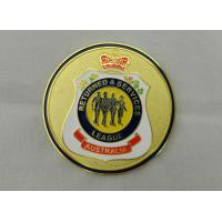 Quality Iron / Brass / Copper Returned & Service Personalized Coins with Soft Enamel, Gold Plating for Commemorative for sale