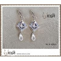 China 2012 hot selling 925 sterling silver gemstone earrings with Zircon W-AS925 wholesale