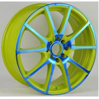 China Green / Red Painted 5 Hole 17 Inch Alloy Wheels 15x6.5 17x7 wholesale