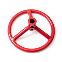 China Welding Carbon Steel Gate Valve Wheel Handle Red / Black For Pneumatic Actuator wholesale