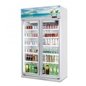 China Adjustable Shelves Glass Door Freezer Beverage Display Cooler / Drinks Display Fridge wholesale