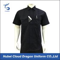 China Custom Design Black Security Guard Shirts , Tactical Work Shirt For Duty wholesale