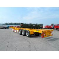 China 40 Feet Container Carrying Semi Trailer Trucks With FUWA AXLE AND JOST Landing Leg wholesale