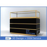China Custom Jewelry Showcases With Large Storage In Black Painting wholesale