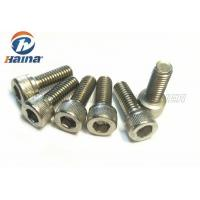 Quality A2 70 Stainless Steel Machine Screws DIN 912 Silver Color With Socket Cap Head for sale
