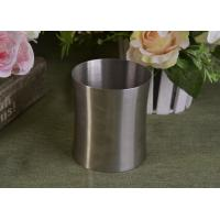 China 23 Oz Silver round metal candle holder bulk with Lid , customized shapes wholesale