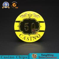 China :Macao Casino Casino Club Competition Acrylic Hot Stamping Anti-counterfeit Chips Manufacturer Custom Chip Warehouse Spo wholesale