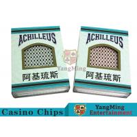 China Good Elasticity Casino Quality Playing Cards , Professional Playing Cards  wholesale